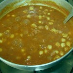 Chole mixed in paste