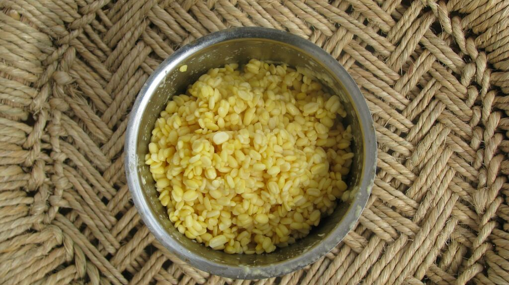 Moong Daal after soaked in water