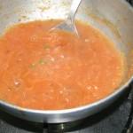 Cooked tomato-onion paste