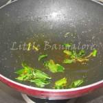 Green chilly, kadi patta and rai mixture